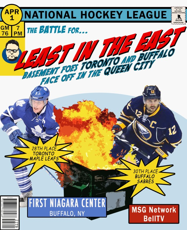 Sabres Leafs Gameday poster
