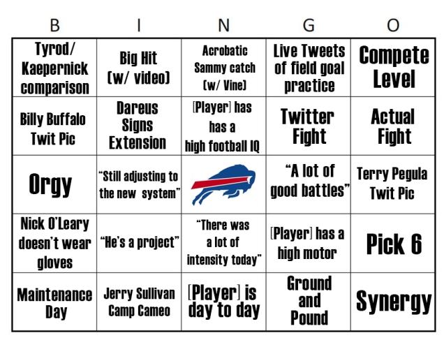 Bills Bingo 3
