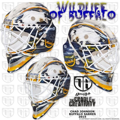 Sabres Goal Masks for the 2015-16 Season – Two in the Box