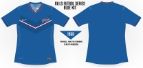 Bills Blue Chevron Soccer Concept Blank