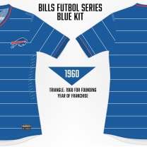 Bills Pinstripes Soccer Concept Blank