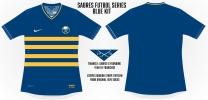 Sabres Blue Soccer Concept Blank