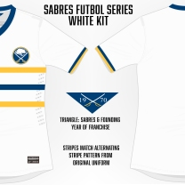Sabres White Soccer Concept Blank