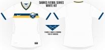 Sabres White Soccer Concept 2 Blank