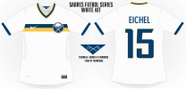 The Sabres concepts really play well on a white jersey thanks to how blue and gold pop together.